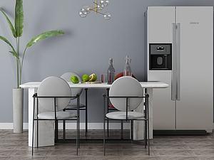 家具饰品组合餐桌模型3d模型