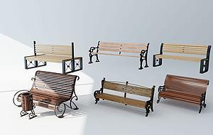 簡歐公園椅模型3d模型