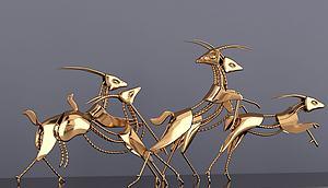 裝飾品鹿模型3d模型