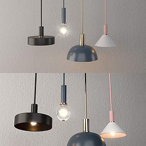 北欧灯组合3d模型