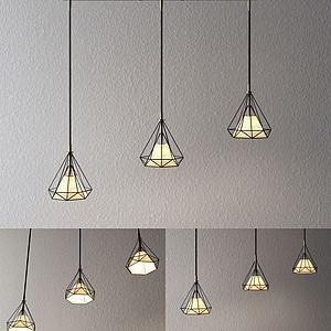 钻石造型灯3d模型