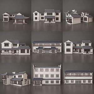 古建模型3d模型
