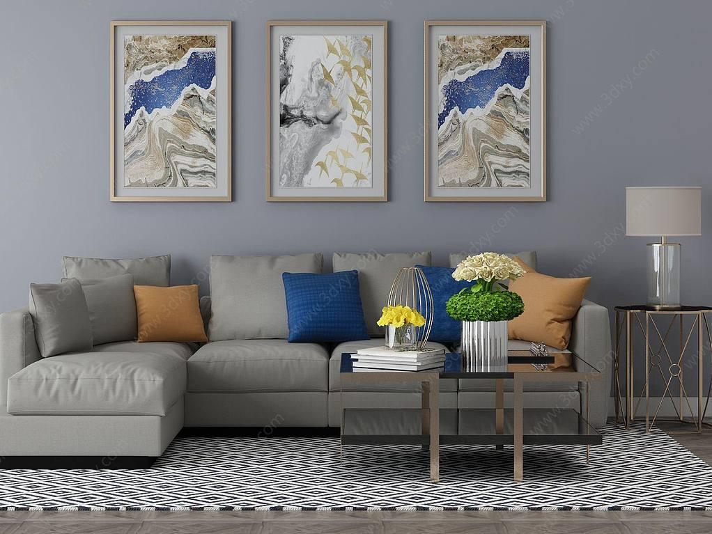 家具饰品组合沙发组合
