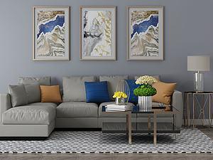 家具饰品组合沙发组合模型3d模型