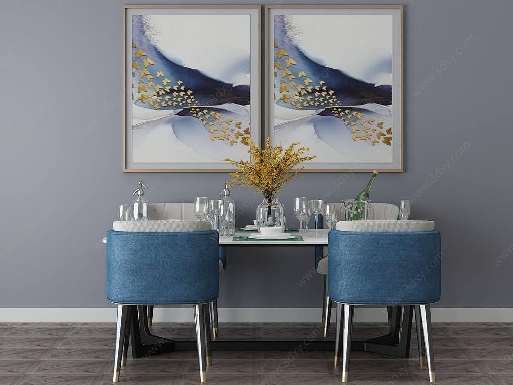 家具饰品组合餐桌