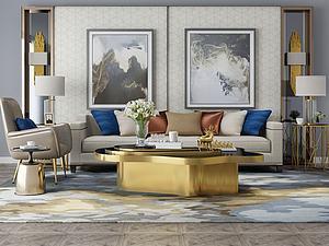 家具饰品组合沙发模型3d模型