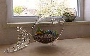 魚缸模型3d模型