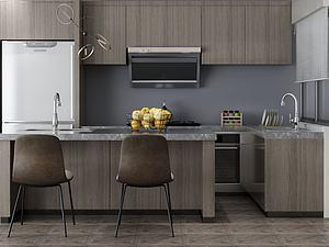 家具饰品组合厨房模型3d模型