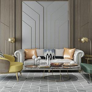 家具饰品组合沙发茶几3d模型
