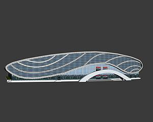 体育馆模型3d模型