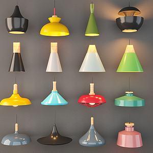 彩色吊灯组合3d模型