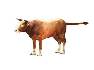 家牛模型3d模型