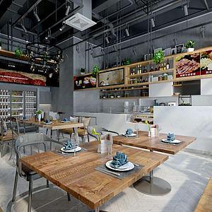 經典餐廳模型