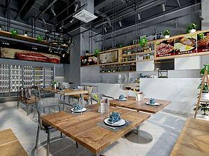 经典餐厅模型3d模型