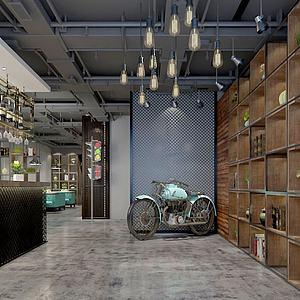 工业餐厅模型