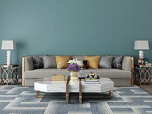 家具饰品组合沙发茶几模型3d模型