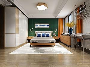 北歐風格臥室模型3d模型