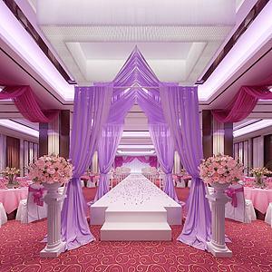 现代婚礼迎宾区模型
