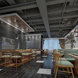 现代餐厅经典模型