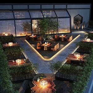 建筑屋顶阳台模型