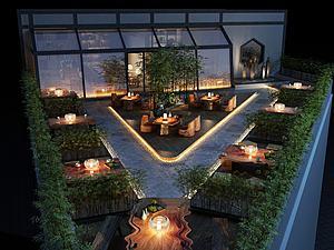建筑屋顶阳台模型3d模型