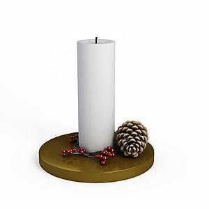 3d<font class='myIsRed'>圣诞</font>蜡烛模型