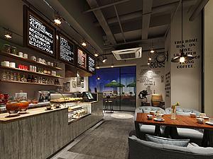 工業咖啡廳模型3d模型