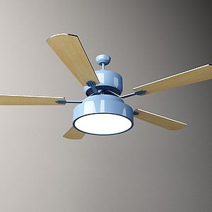 北欧吊扇吊灯3d模型