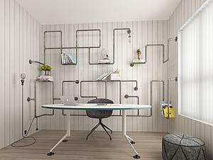 书房模型3d模型