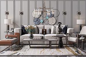 新中式沙发模型3d模型