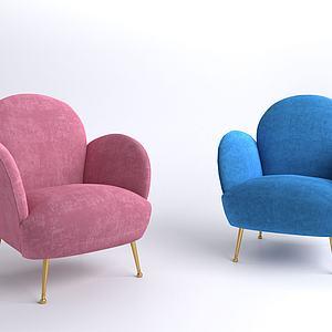 现代单人沙发椅3d模型