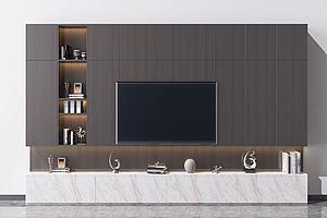 电视墙模型3d模型
