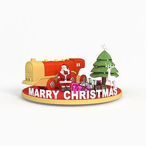 圣诞节商场展示模型3d模型