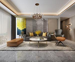 现代简约客厅模型3d模型