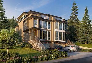 现代别墅外观模型3d模型