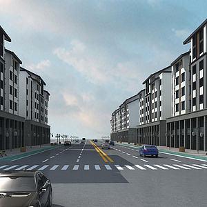 住宅商业街模型3d模型