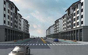 住宅商业街模型模型3d模型