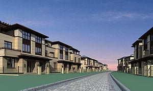中式别墅群模型模型3d模型