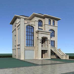 石材别墅模型3d模型