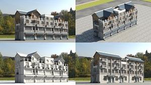 仿古建筑004模型3d模型