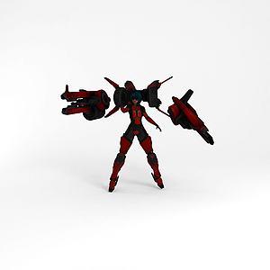 美女战士游戏模型3d模型