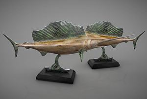 現代劍魚擺設飾品模型3d模型