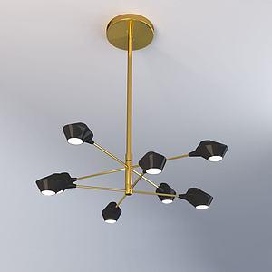 北欧创艺吊灯3d模型