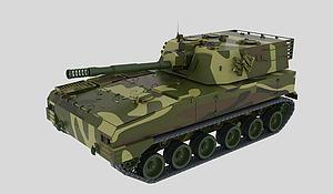 122自行榴弹炮模型3d模型