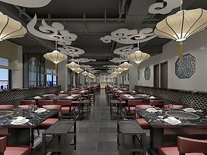 中式经典餐厅模型3d模型