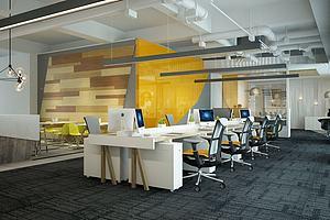 現代簡約辦公室模型3d模型