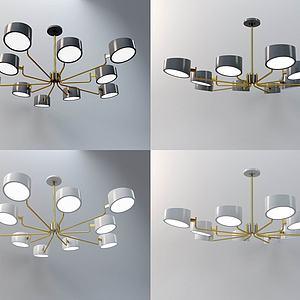 现代北欧吊灯3d模型