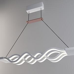 现代波浪吊灯3d模型
