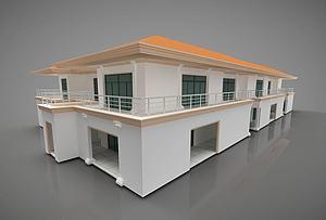 現代別墅建筑模型3d模型