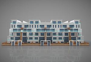 現代大型房屋建筑模型3d模型